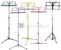 Portable Music Stand w/ Bag - Available in Purple, Yellow, Black, Blue, Pink, Chrome