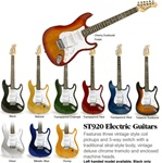 Crestwood ST920 Strat Style Double Cutaway Electric Guitar. InstrumentAlley.com