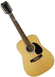 Indiana Scout 12 Full Size Spruce Top Twelve String Acoustic Guitar. Free Shipping!