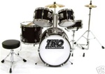 TKO 101 Junior 5 Piece Drum Set with Throne and Sticks for kids