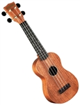 Hamano U-320 Mahogany Body Soprano Ukulele Uke Bundle with Bag & DVD