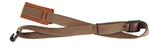 LM UK-2 Ukulele Strap Nylon Uke Strap with Leather Pad - Brown