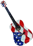 Indiana USA-1 Spruce Top US Flag Stars and Stripes Acoustic Guitar