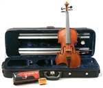 "Palatino VN-650 ""Genoa"" Solid Carved Violin Outfit w/ Case, Bow, Rest, Rosin Violin"