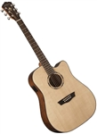 Washburn WLD10SCE Woodline Cutaway Acoustic Electric Guitar with Hard Case