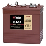 Trojan T-105 Deep Cycle 6v Lead acid battery 225 amp hour