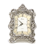 Alarm Clock by Gorham, Sterling Floral Design