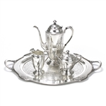 Ambassador by 1847 Rogers, Silverplate 4-PC Tea Service w/ Tray