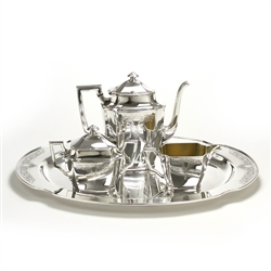 Ancestral by 1847 Rogers, Silverplate 4-PC Coffee Service w/ Tray