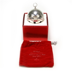 2002 Sleigh Bell Silverplate Ornament by Wallace