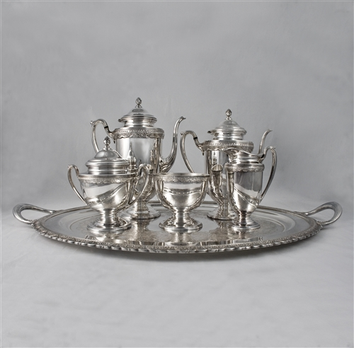 1847 Rogers First Love Silverplate 6-PC Tea & Coffee Service at The ...