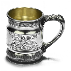 Child's Cup by Whiting Div. of Gorham, Sterling Victorian Bright-cut Design, Monogram RMW from WR