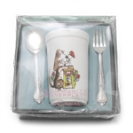 Affection by Community, Silverplate Baby Spoon & Fork, Plastic Cup
