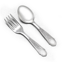 Baby Spoon & Fork by Joseph Mayer Bros., Sterling, Alaska