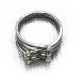 Ring by Taxco, Sterling Ball & Stick
