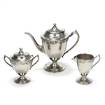 3-PC Tea Service, Nickle Silver Grape Design