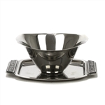 Miranda by National, Stainless Gravy Boat, Attached Tray