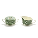 Colonial Homestead/Green by Royal, China Cream Pitcher & Sugar Bowl