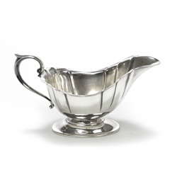 Gravy Boat, Silverplate, Fluted Design