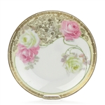 Salad Plate, China, Pink Roses, Gold Trim