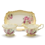 Old Foley by James Kent LTD, China Cream Pitcher, Sugar Bowl & Tray, Roses
