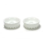 Hobnail, Milk Glass by Fenton, Glass Candlestick Pair