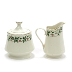 Holiday Traditions by Made in China, China Cream Pitcher & Sugar Bowl