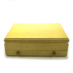 Silverware Box by 1847 Rogers, Wood, Blonde Double Drawer