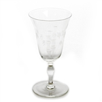 Old Bamboo by Craftsman Stemware, Glass Water Goblet
