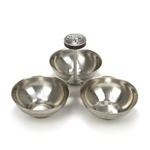 Di Lido by International, Stainless Relish Dish, Tri-Cup