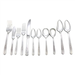 Royal Rose by Nobility, Silverplate Flatware Set, 54 Piece Set