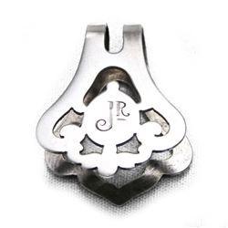 Napkin Clip by Woodside Sterling, Sterling, Deco Design, Monogram Jr
