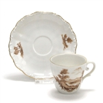 Demitasse Cup & Saucer by Leftmann, Porcelain, Country Side Scene