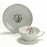 Pink Orchid by Grantcrest, China Cup & Saucer