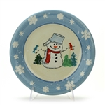 Salad Plate by Salute Ceramics, Ceramic, Snowman