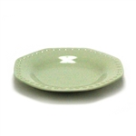 Salad Plate by Kang, Stoneware, Green Hexagon