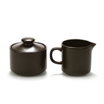 Cream Pitcher & Sugar Bowl by Japan, Stainless, Chocolate