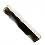 Comb, Silverplate, Flower & Scroll Design