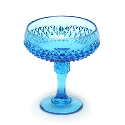 Diamond Point Regal Blue by Indiana, Glass Compote