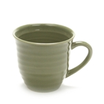 Mug by Home Trends, Stoneware, Green, Ringed