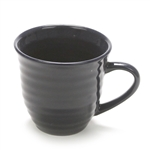 Mug by Home Trends, Stoneware, Navy, Ringed
