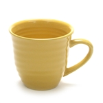 Mug by Home Trends, Stoneware, Yellow, Ringed