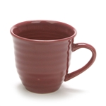 Mug by Home Trends, Stoneware, Maroon, Ringed