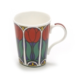 Mug by Crown Trent, China, Red Flowers