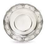 Rose Point by Wallace, Sterling Round Tray, Ruffled Edge