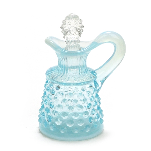 2135ba5c7c7b Hobnail Blue Opalescent by Fenton, Glass Cruet