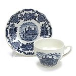 Royal Homes of Britain Blue by Wedgwood, China Cup & Saucer