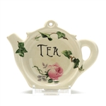 Tea Bag Holder by Crownford Giftware Corp., Ceramic, Pink Rose