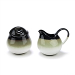 Nova Black by Sango, Stoneware Cream Pitcher & Sugar Bowl