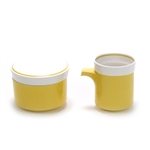 Light and Lively Yellow by Mikasa, China Cream Pitcher & Sugar Bowl